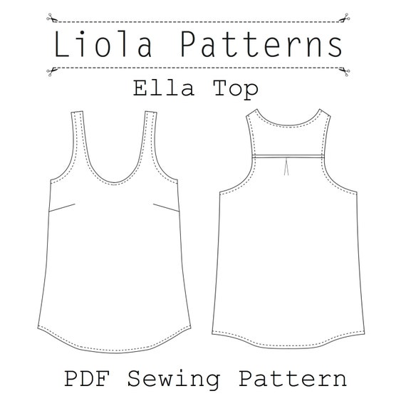 Ella Top PDF Sewing Pattern | Etsy