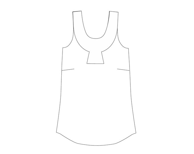 Sparrow Top PDF sewing pattern