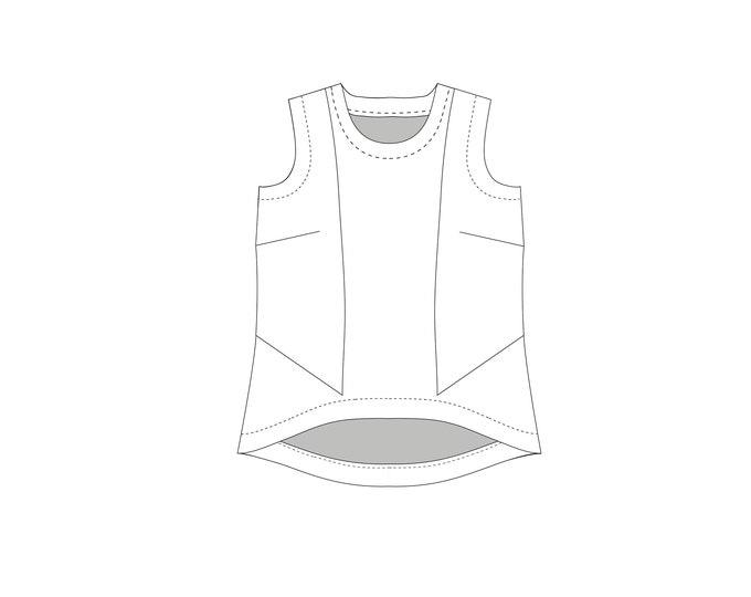 Luna Top PDF Sewing Pattern