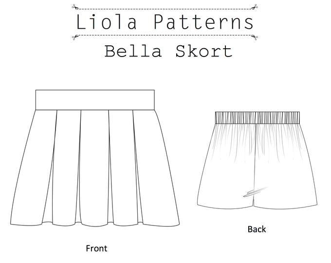 Bella Skort PDF girls sewing pattern