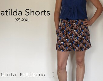 Matilda Shorts PDF Sewing Pattern
