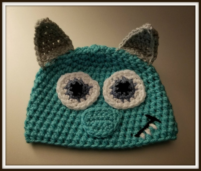 a3819384cad Monster s Inc Sully Baby Hat Baby Toddler Kids Size
