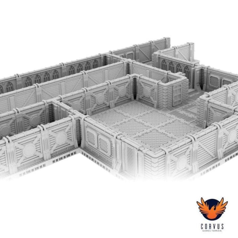 photo about Free 3d Printable Terrain identify 3D Revealed Location Hulk, 3D Revealed Terrain Warhammer 40k Modular Sci-fi Hall Terrain Beginner Established
