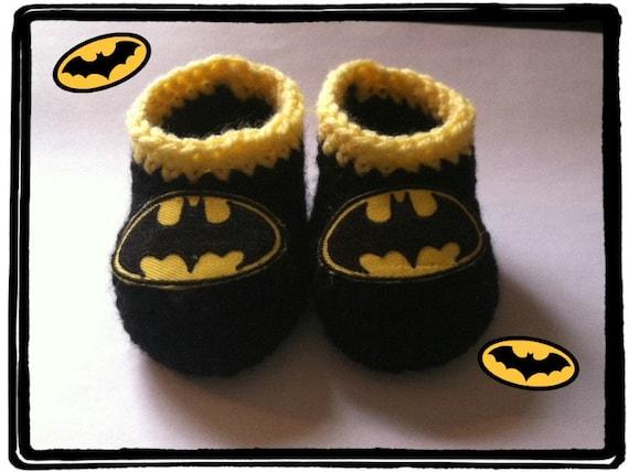 BATMAN Baby Booties Batman Baby Shower