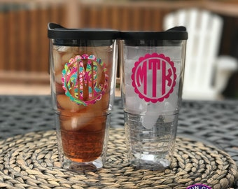 Personalized Tumbler, Large 24oz with straw, Name on Tumbler, Sip Lid & Straw Included, Double Walled/BPA Free