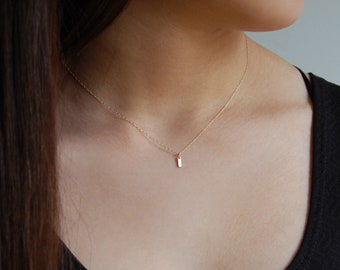 Dainty Gold Necklace 14K Yellow Gold Necklace Solid Gold Necklace Minimalist Necklace 14K Gold