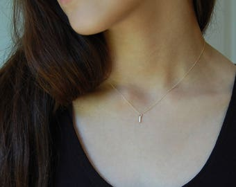 Gold Layering Necklace Dainty Gold Necklace 14K Gold Necklace Solid Gold Necklace Minimalist Gold Necklace