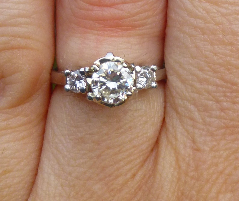 b0f331eeb730d Three Diamond Certified Round Diamond diamonds .76 carats engagment ring in  Platinum Heavy APPRAISED in 2002 for 4000
