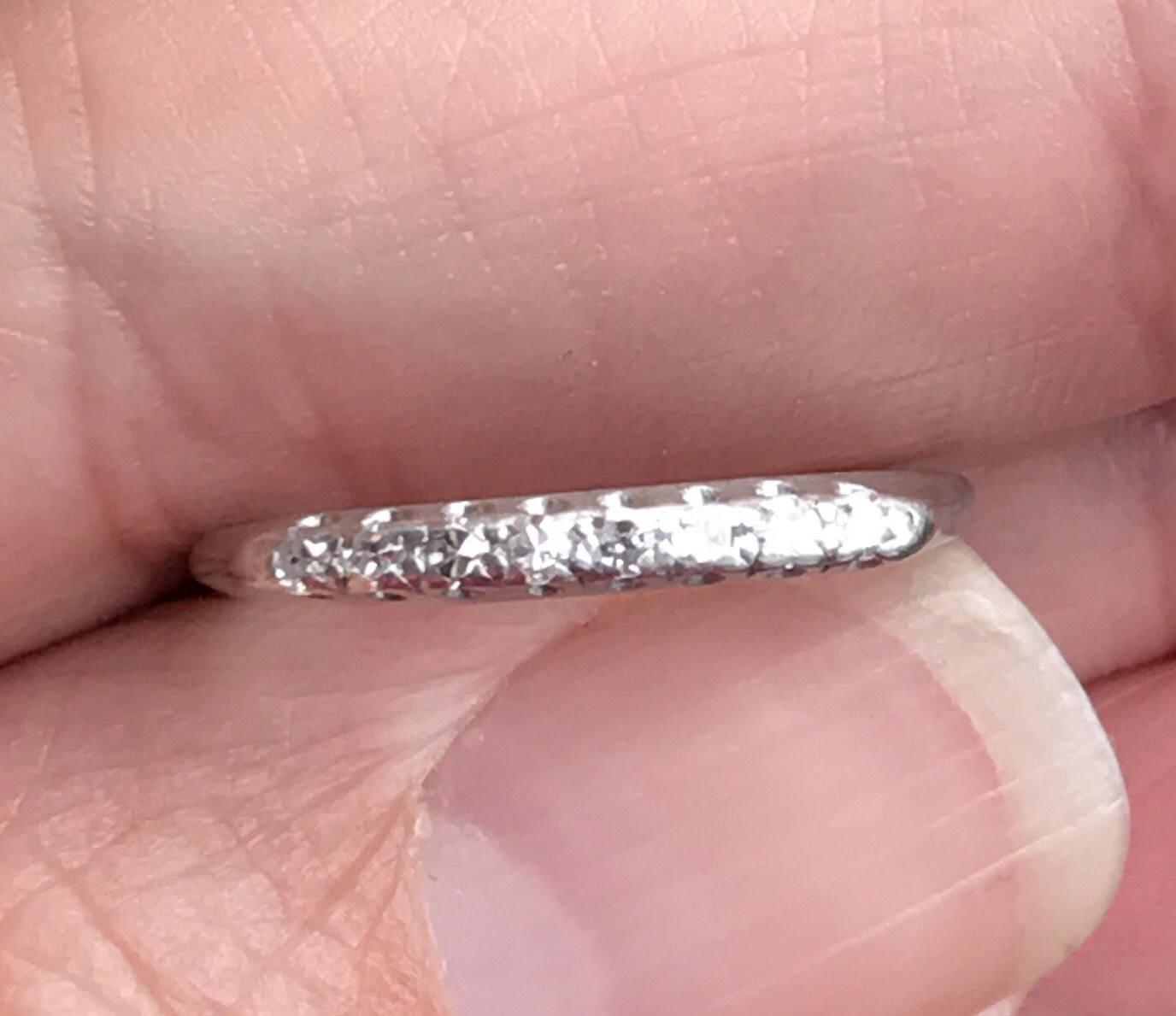 Art Deco Vintage Deco .15 Ct Diamonds Platinum Engagement Ring   Etsy