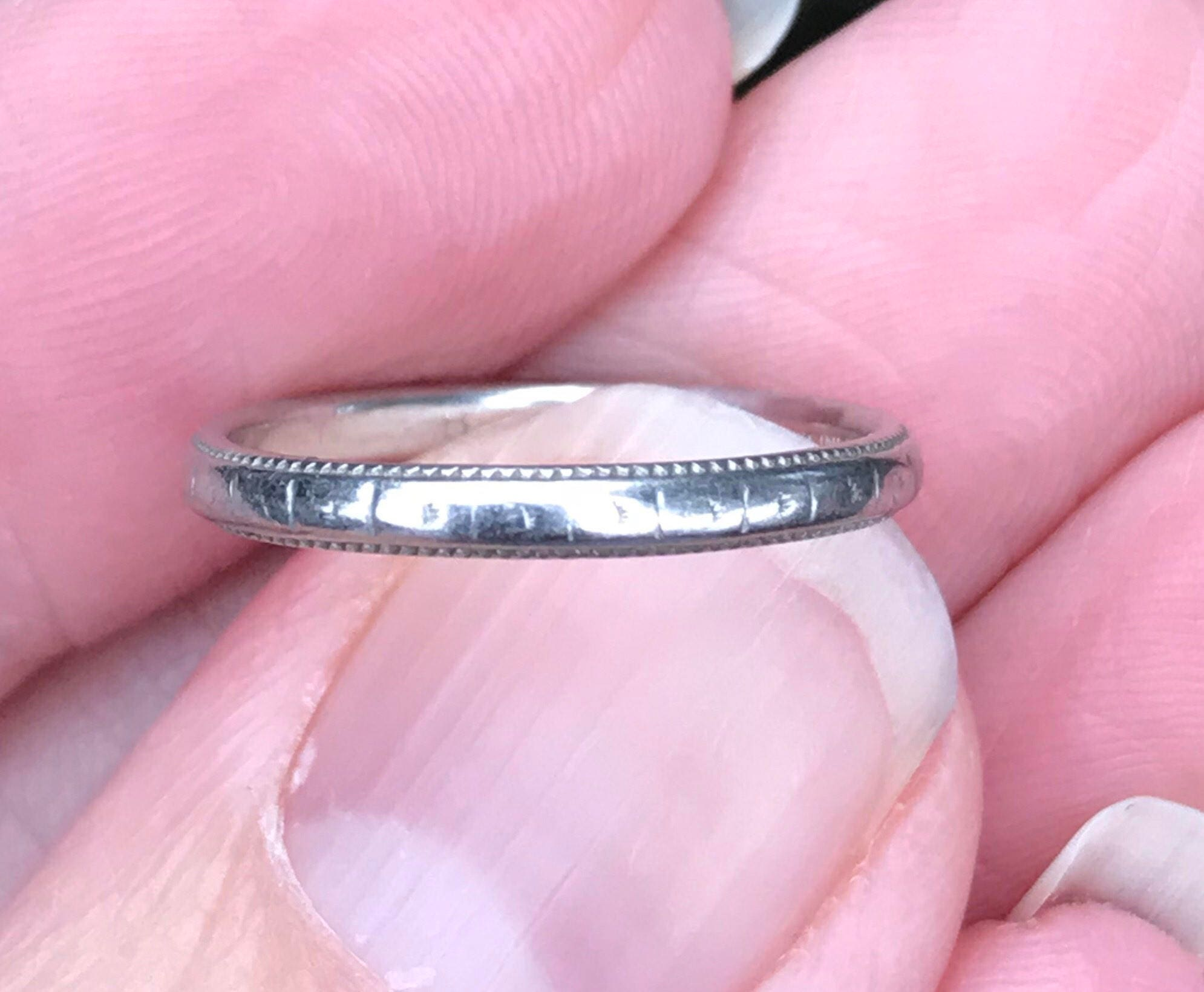 1920s Platinum eternity ring wedding ring anniversary ring | Etsy