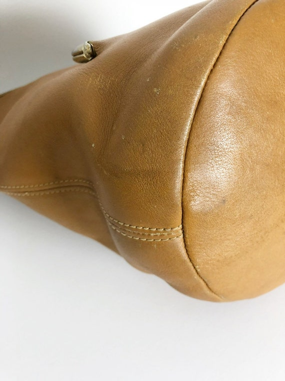 Bonnie Cashin RARE tan bucket bag c1960 Meyers Co… - image 8