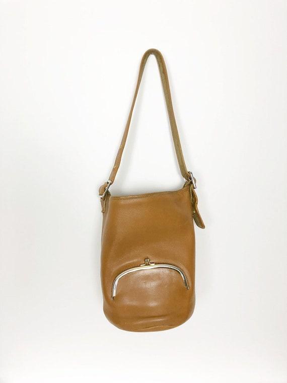 Bonnie Cashin RARE tan bucket bag c1960 Meyers Co… - image 6