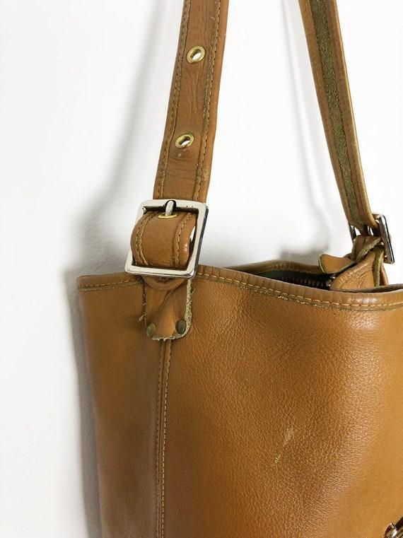 Bonnie Cashin RARE tan bucket bag c1960 Meyers Co… - image 4