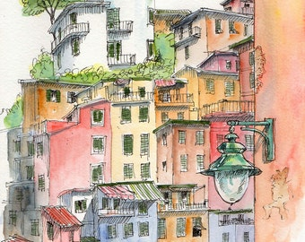 Digital download only-Riomaggiore, Cinque Terre, Italy