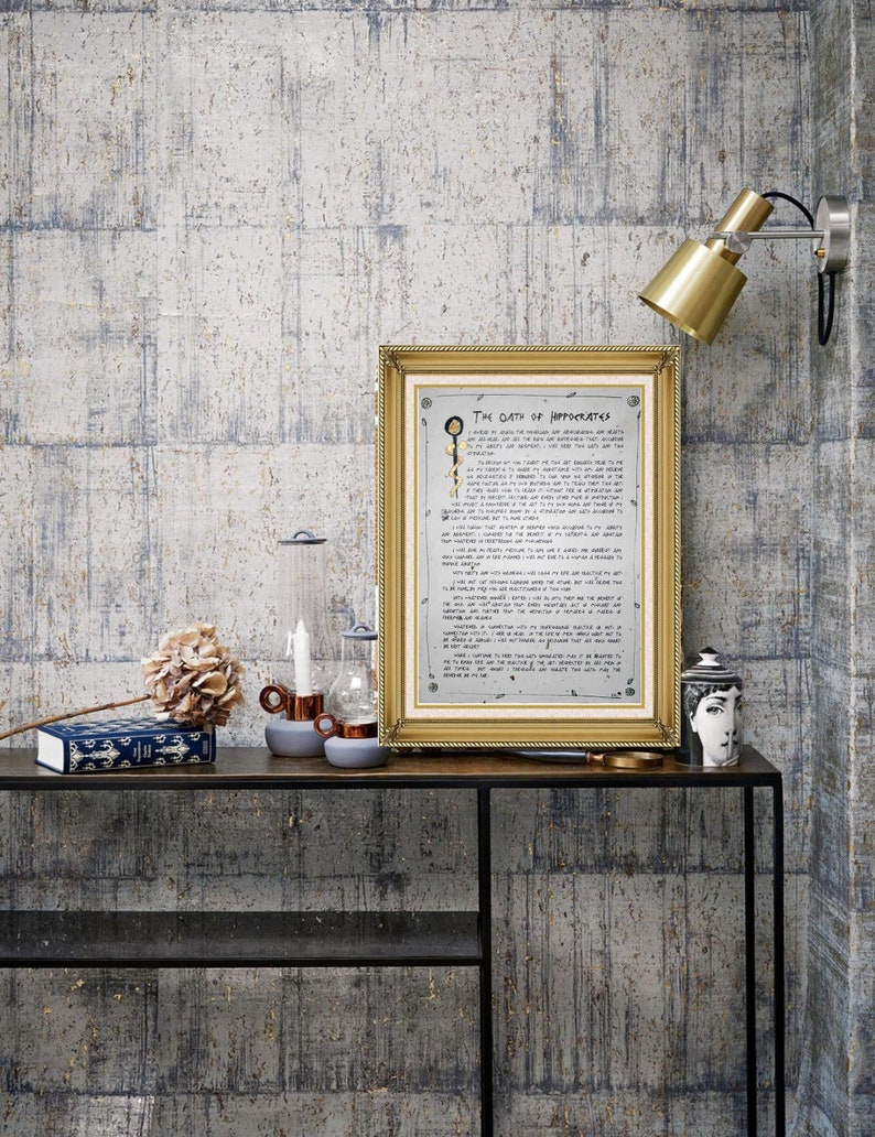 Hippocratic Oath of Hippocrates Personalized Handmade Paper image 1