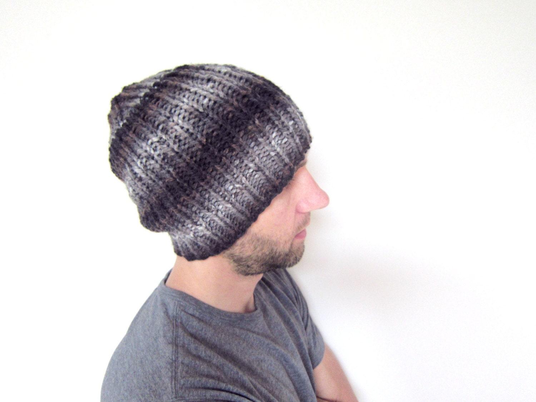 Para hombre de punto a sombrero chicos Slouchy Loose Knit | Etsy