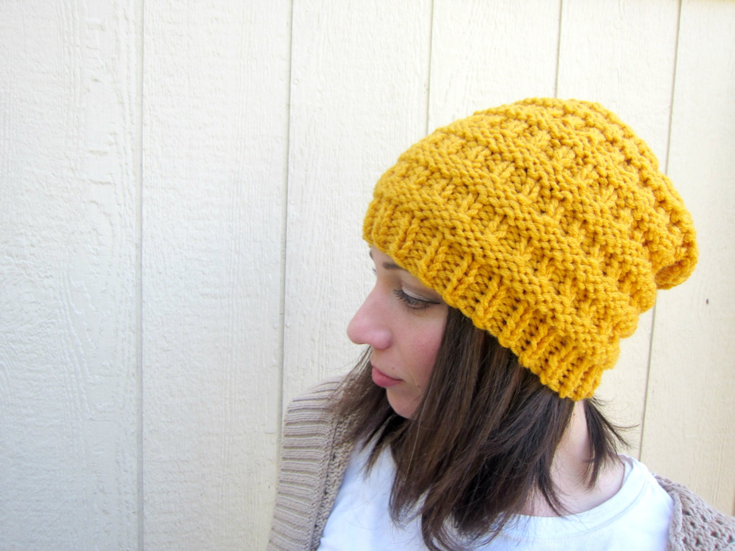 9b3025a7 Yellow Knit Hat Mens Knitted Hats Etsy Crochet Beanie Slouchy Womens Cap  Accessories Handmade Gifts for Guys Fashion Beanies Mustard