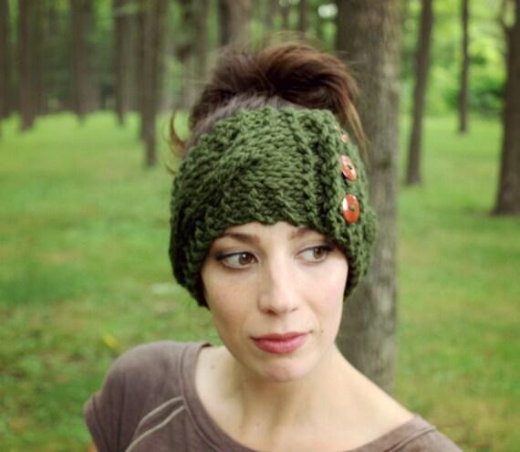 Stricken Ohr wärmer Kabel stricken Stirnband Womens | Etsy