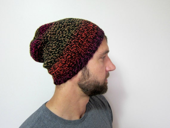 Mens Knit Hat Slouchy Beanie Guys Knitted Hats for Men Gift  d22b4293c73
