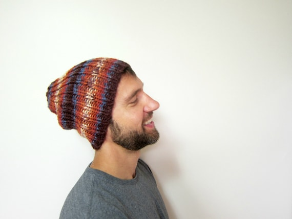 Warm Mens Hat Autumn Guys Hats Slouchy Beanie Men Knit Beanies  a4b2c2996d35