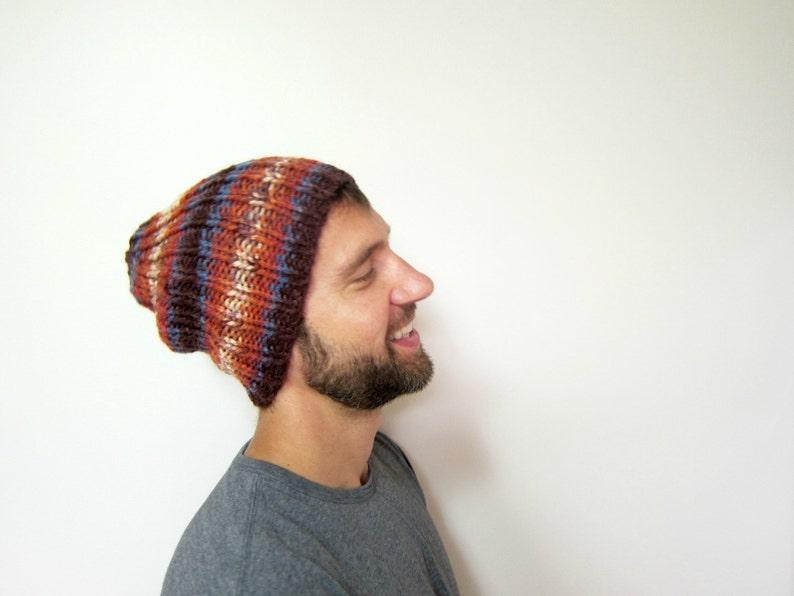c8cd62e6fc6 Warm Mens Hat Autumn Guys Hats Slouchy Beanie Men Knit Beanies
