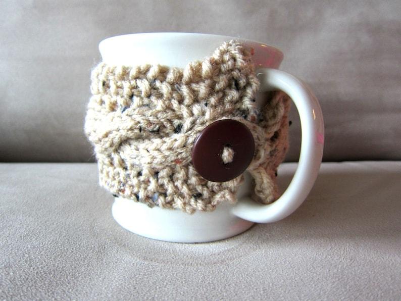 Coffee Cup Cozy Knit Mug Warmer Autumn Cups Handmade Cup image 1