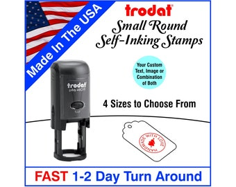 Round Stamp - Custom Self Inking - Small Round Inspector Stamps - Punch Card Stamps