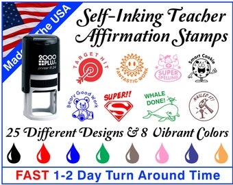 Self-Inking Teacher Stamps ~ Teacher Ink Stamps ~ Grading Stamps ~ Classroom Stamps
