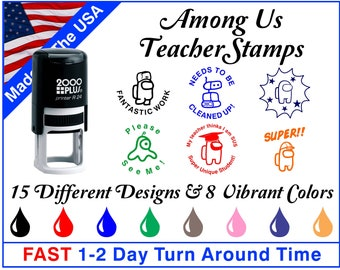 Among Us Self-Inking Teacher Stamps ~ Teacher Ink Stamps ~ Grading Stamps ~ Classroom Stamps