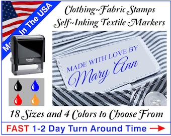 Clothing Stamp - Fabric Stamp - Textile Stamp - Custom Fabric Marker - Self Inking