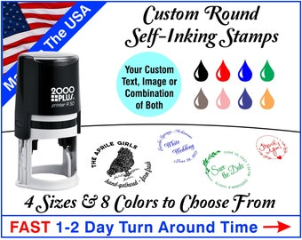 Custom Round Self-Inking Stamps