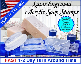 Soap Stamp - Custom Acrylic Soap Stamp - Stamp for Soap Makers