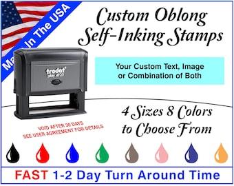Trodat Custom Oblong Self-Inking Stamps