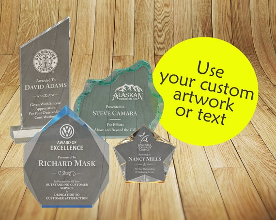 Peak Acrylic Award | Custom Laser Engraved | Personalized Trophy |  Recognition Plaque