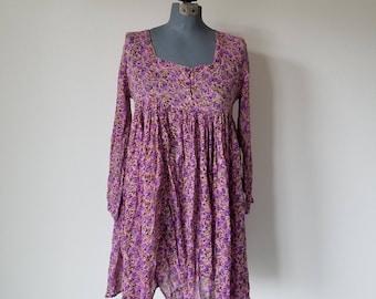Vintage 1990's Grunge Purple Mini Dress
