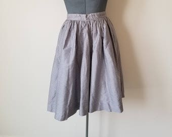 Vintage 1960's Blue and White Striped Skirt