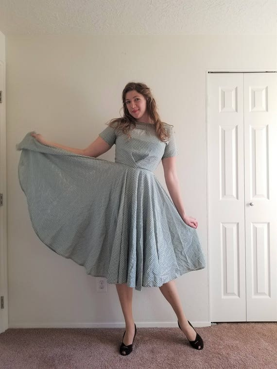 Vintage 1950's Extra Full Circle Skirt Dress