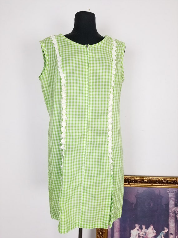 Vintage 60's Green Gingham Play Suit