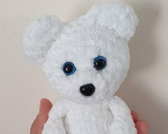 Polar Bear / Soft White Polar Bear Toy / Crochet Plush Polar Bear Toy / Crochet Polar Bear