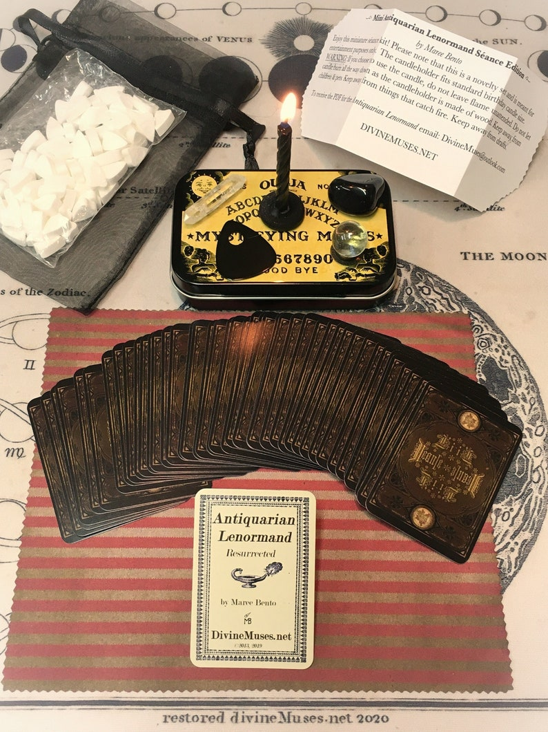Mini Seance Set with Antiquarian Lenormand Cards  A Magical image 1