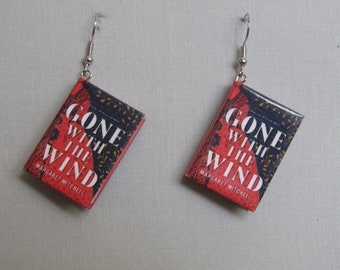 Miniature book earrings, Gone with the Wind