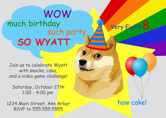 Skin Roblox Doge Digital Doge Meme Birthday Card Customized Etsy