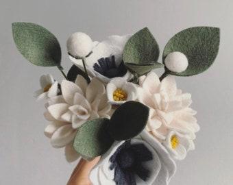 FELT FLOWER BOUQUET No. 021 forever flower bouquet teachers gift housewarming gift office cubicle decor Mother's Day wedding bridal