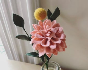 FELT FLOWER BOUQUET No. 015 - forever flower bouquet teachers gift housewarming gift office cubicle decor Valentines day Mothers day