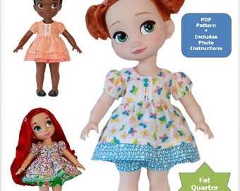 7c23e8fd9 The Layer Cake Dress Doll Clothes PDF Pattern for Disney Animator's  Collection Dolls by Cyndyana Dolls