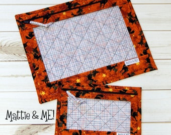 Project Bags-Cross Stitch Quilted Project Bag-Large-and Small Set-Cross Stitchers and Quilters-Halloween Witch's Theme