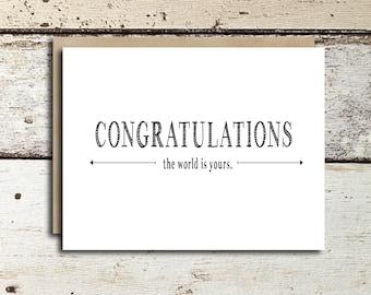 Graduation Card instant download/printable Congratulations