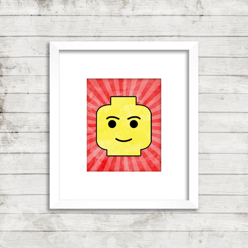 photo relating to Lego Head Printable identified as Lego Thoughts Artwork Printable