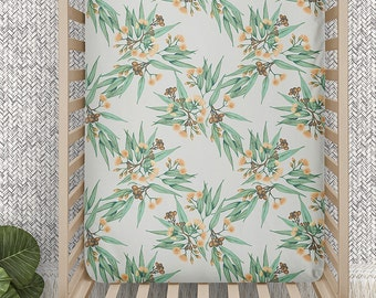 Cot Sheets Australian Printed. Choose from 4 Prints | Fitted Cot Sheet | Cotton Sateen | Ready to Ship in 2-5 days