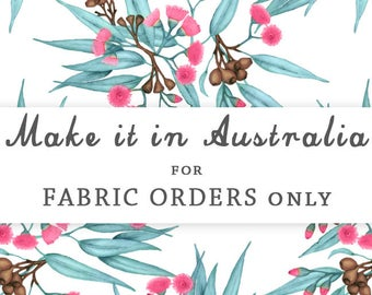 Australian Printed Fabric by the metre. Choose fabric, organic cotton knit, linen cotton, cotton voile, etc. Printed in Melbourne in 5-7days